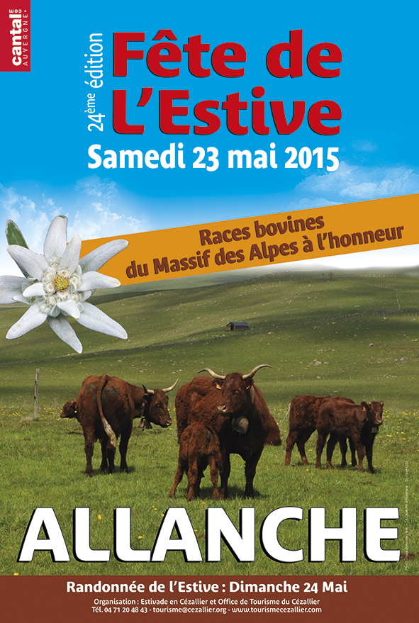 Day Poster from the summer pastures of Allanche (Edition 2015)