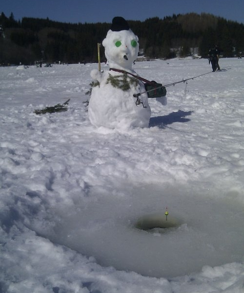 One ice fisherman