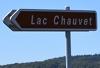 Panneau du Lac Chauvet
